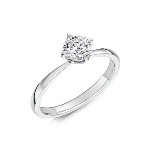 0.33 Carat GIA GVS Diamond solitaire Platinum. Round brilliant. Engagement Ring, MPSS-1167/033